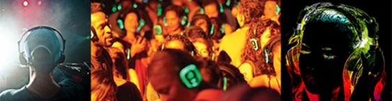 Silent disco party per notte bianca