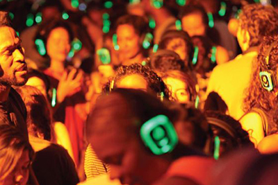 Silent disco party per matrimonio